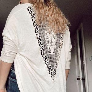crochet back lace cardigan